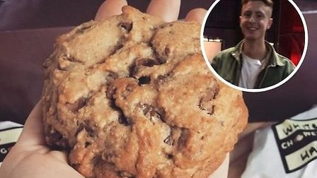 Karim El-Bahi, from Norwich, has launched new cookie delivery company Choowey 'N' Goowey Picture: Su