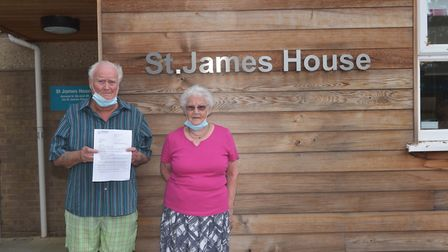 Residents of St James House in Norwich are disappointed that a communal area of the development is s