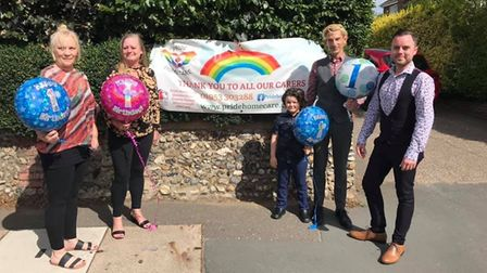 Pride Home Care, a family-run business based in Attleborough, celebrated its first birthday. Photo: