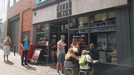 People enjoying the Eat Out to Help Out scheme in Norwich. Pictures: BRITTANY WOODMAN