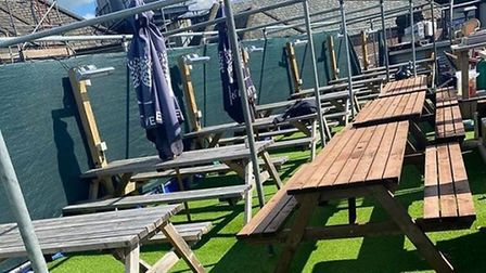 The roof terrace at Gonzo's which has prompted some negative reviews. Pic: Archant