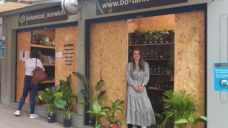 Bo-Tanical reopens after lockdown as an outlet at Norwich Market at stalls 14 and 15, pictured is Ev