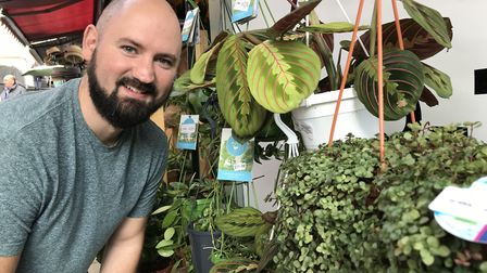 Joe Ridoutt, owner of Bo-Tanical house plant stall at Norwich Market, pictured in 2019 for the stall