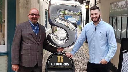 (L-R) Glen Carr and Jonathan Carr who both run Bedfords Bar in Norwich Picture: Supplied