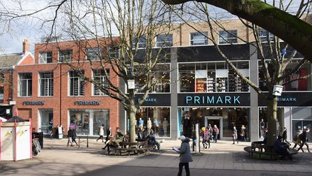 The Primark store, in Norwich, where a small number of employees have tested positive for coronaviru