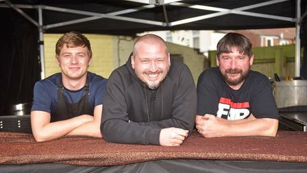 The Fupburger team with chef Kieran Howard, owner Tom Shiers and head chef and manager Jeff Taylor (