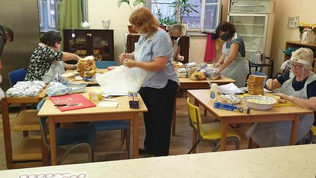 Volunteers at the Silver Rooms in Norwich have been keeping people fed during the summer holidays. P
