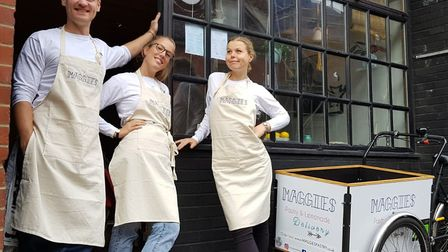 Maggie Christensen (right) is planning to open a Danish café called Fra°.kost in Norwich, pictured h