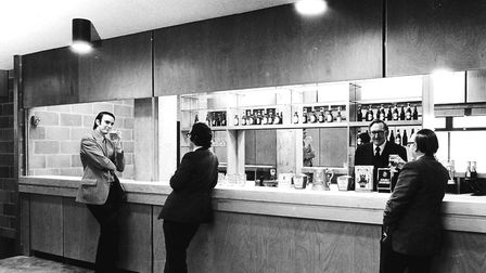The UEA students union bar, in the university square, during the 1970s Photo: University of East Ang