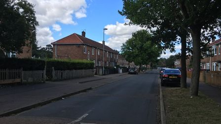 Firefighters and the police were called to reports of a blaze in Stevenson Road, Norwich, just after