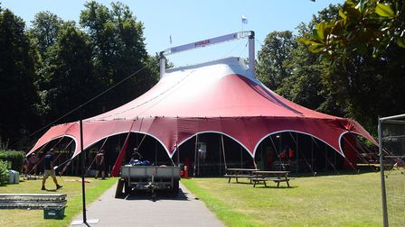 The big tent ready at Interlude at Chapelfield Gardens. Picture: DENISE BRADLEY