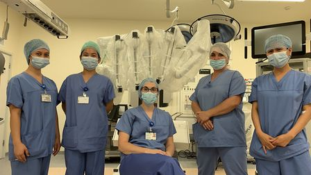 Norfolk and Norwich University Hospital nursing team involved in the procedure. Picture: NNUH