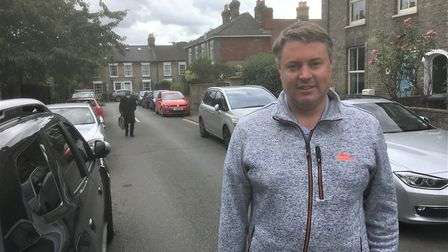 Andrew Kerrison in Sandringham Street which regularly sees people parking on the pavement. Picture: