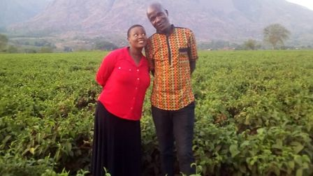 Clanford Chirwa, co-founder of Sade Lumi charity, with his wife Lilly. Mr Chirwa lives in Malawi whe