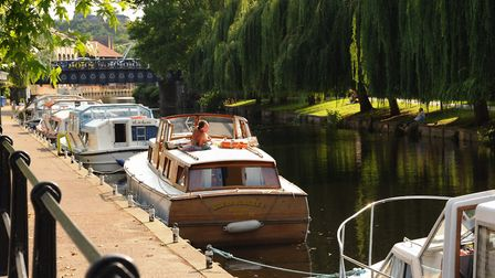Boats moored at Norwich Yacht Station on Riverside Road. Picture: Denise Bradley