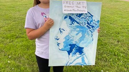 Macey, aged ten, was among a number of art fans who became surprise owners of paintings after findin