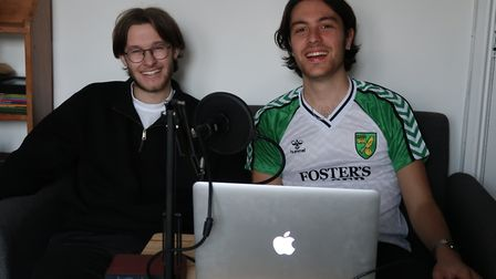 Alfie Britcher and Billy Dunthorne, band mates and now co-hosts of the Revere End podcast. Picture: