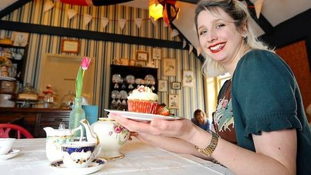 Staff at Biddy's Tea Room, Lower Goat Lane, Norwich. Pic: Archant
