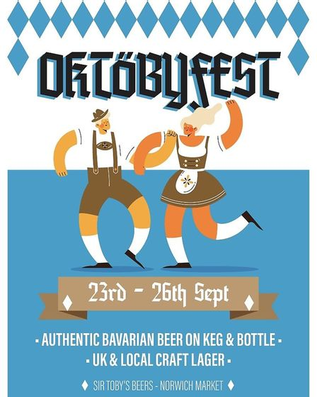 Event poster for Oktobyfest 2020 Photo: Sir Toby's Beers