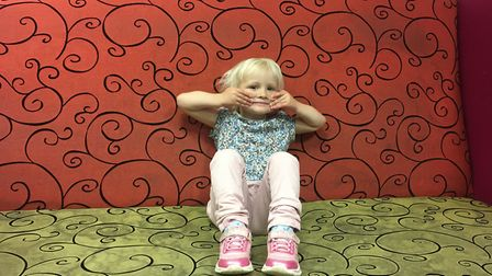 Ivy Wogan, 2, attended her first My First Music class at The Garage, which she attended in the first