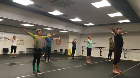 Members of the Over 50s contemporary class at a class at the Garage. Picture: Archant