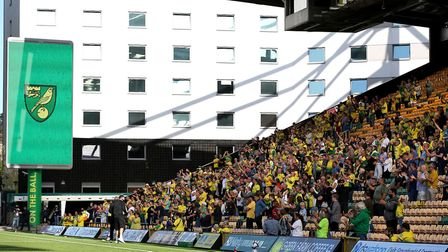Norwich City fans returned to at Carrow Road, Norwich, for the clash with Preston. PHOTO: Nigel Fren