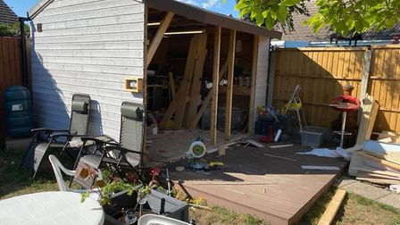 Members of the Swaffham Men's Shed helped to build this back garden shed before the lockdown. Pictur