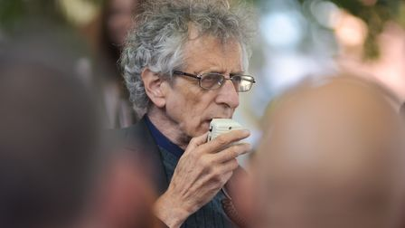 The Covid Truth Tours stops off in Norwich with speaker Piers Corbyn.Byline: Sonya Duncan(C) Archant