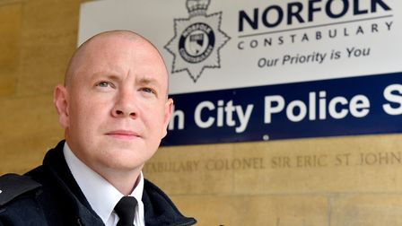 Superintendent Terry Lordan, Norfolk Constabularys district commander for Norwich. Picture: Nick But