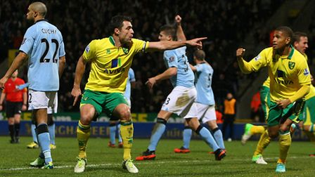 Russell Martin bagged a brace against the Premier League champions during Norwich City's festive sch