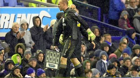John Ruddy goes off injured. Picture: Paul Chesterton / Focus Images