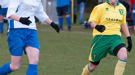 Kyle Love for Norwich City Ladies v Enfield