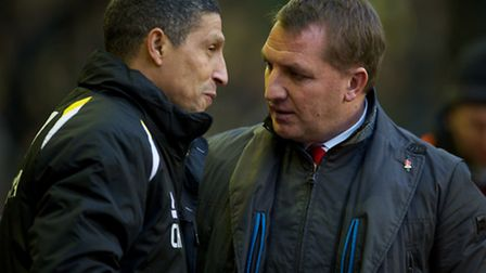 """I'll give you X and Y for £Z"" - Chris Hughton and Brendan Rodgers share a chat before Saturdays gam"