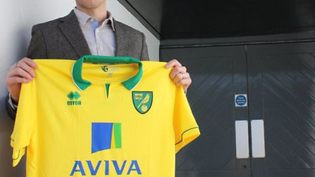 New Norwich City signing Luciano Becchio at Carrow Road. Picture: Norwich City FC