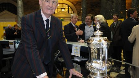 Terry Allcock with the FA Cup in Norwich in 2009, some 50 years after the Canaries narrowly missed o