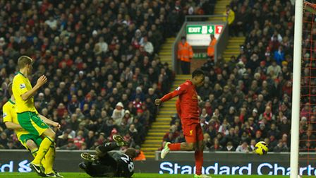 Daniel Sturridge scores his third goal in as many games since a £12m switch from Chelsea. Picture: D
