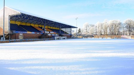 There was never any prospect of play at The Walks this weekend. Picture: Ian Burt