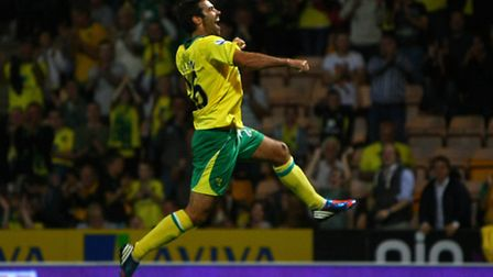 Simon Lappin celebrates scoring against Scunthorpe United in the Capital One Cup earlier this season