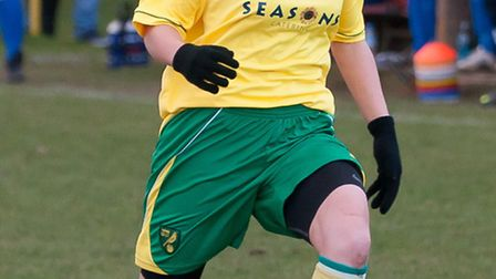 Kyla Love, who netted for Norwich, pictured earlier in the season.