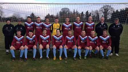 Back, Paul Nash (assistant manager), Ian Sell (assistant manager), Jordan King, Matthew Elwin, Sean