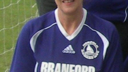 Heather Heslin, who netted a hat-trick for Belles.