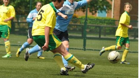 Captain Kate Parsons, who scored for Norwich City Ladies against Brentwood.