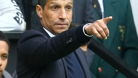 Chris Hughton can finally relax after watching City secure top-flight safety. Picture: Paul Chestert