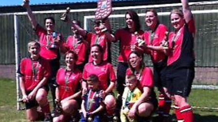 Costessey Ladies after their Sevens League Cup triumph