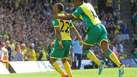 Nathan Redmond - a £3.2m arrival from Birmingham - and Leroy Fer - £5m from FC Twente - celebrate Ci