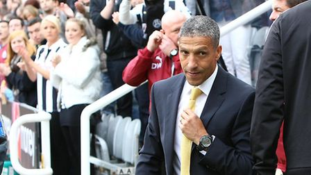 Chris Hughton was the focal point on Norwich Citys previous visit to Newcastle.