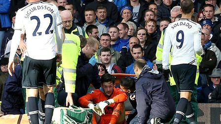 Hugo Lloris tries to work out where he is probably after asking if he can keep playing for Tottenha