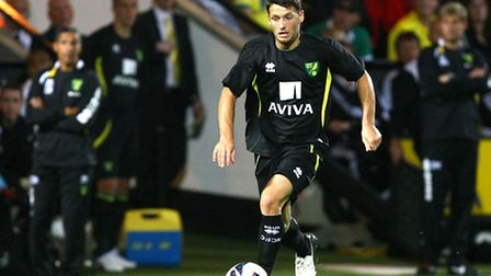 Norwich City manager Chris Hughton watches as Wes Hoolahan runs with the ball during his first pre-s