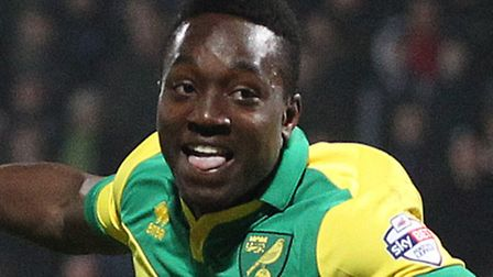 Jamar Loza celebrates scoring Norwich City's injury-time equaliser at Huddersfield. Picture by Paul