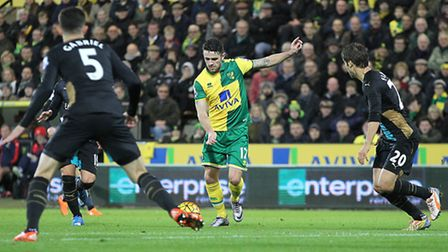 Robbie Brady was head and shoulders Norwich City's best player against Arsenal. Picture: Paul Cheste